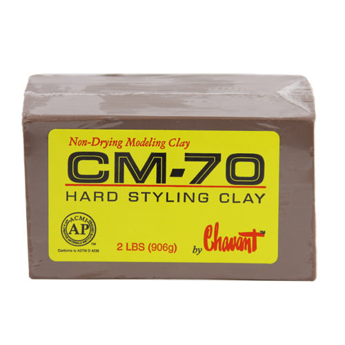 Chavant CM-70 Extra Hard Industrial Styling Clay 10 lb 1/4 case