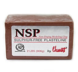 Chavant NSP (Non Sulphurated Plasteline) Brown Medium Clay