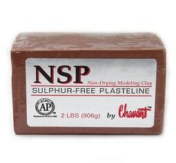 Chavant NSP (Non Sulphurated Plasteline) Brown Medium Clay