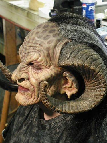 Monster Makers foam latex monster mask with horns
