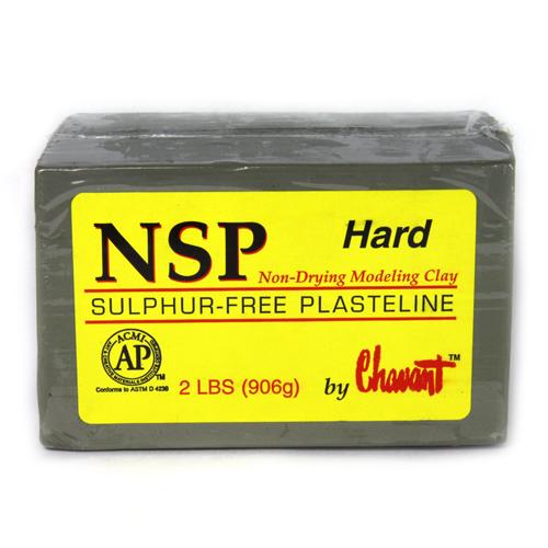 Chavant NSP (Non Sulphurated Plasteline) Green Hard Clay