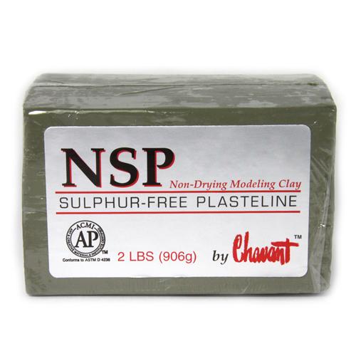 Chavant NSP (Non Sulphurated Plasteline) Green Medium Clay
