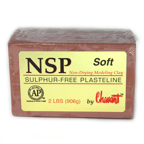 Chavant NSP (Non Sulphurated Plasteline) Brown Soft Clay