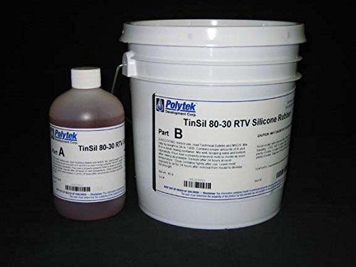 Polytek TinSil 80-30 Silicone Rubber (9lb)-0