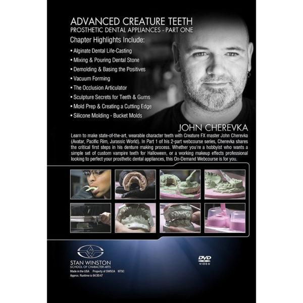 Stan Winston School DVD - Advanced Creature Teeth - Prosthetic Dental Appliances - Part 1 – John Cherevka