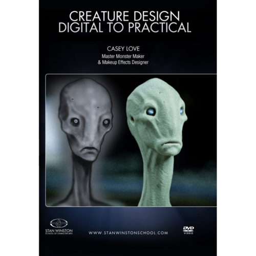 Stan Winston School DVD – Creature Design – Digital to Practical – Casey Love