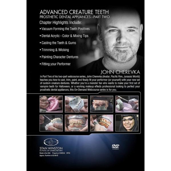 Stan Winston School DVD - Advanced Creature Teeth - Prosthetic Dental Appliances - Part 2 – John Cherevka