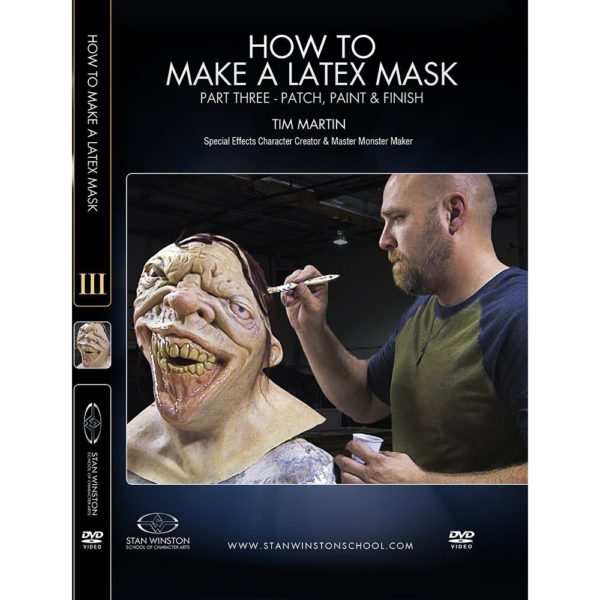 Stan Winston School DVD – How to Make a Latex Rubber Mask Part 3 – Patch, Paint and Finish – Timothy Martin
