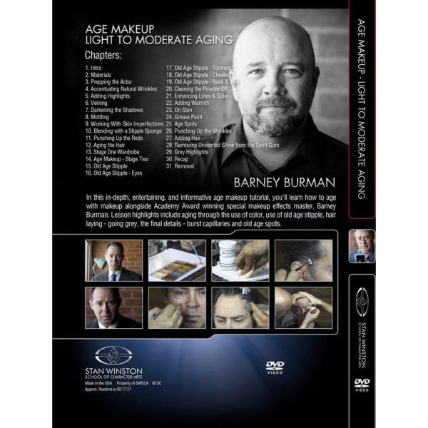 Stan Winston School DVD – Age Makeup – Light to Moderate Aging – Barney Burman