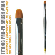 Titanic Pro-FX Brush 104 Small Filbert Brush