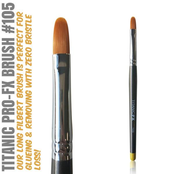 Titanic Pro-FX Brush 102 Long Filbert Brush