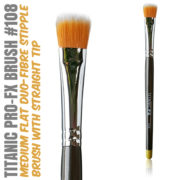 Titanic Pro-FX Brush 108 Medium Flat Duo Fiber Stipple Brush